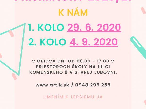 ZÁPIS k nám 2020/21